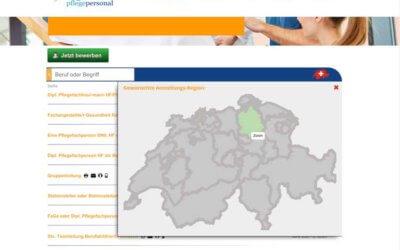Stellenportal für Pflegeberufe – jetzt noch schneller den Traumjob finden. Ganze Schweiz!