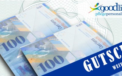 Freie Stelle Pflege: Für Ihre Job-Weiterempfehlung winkt ein «200 FRANKEN-GUTSCHEIN»